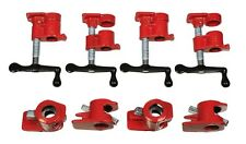 "( 4 Pack ) 3/4"" Wood Gluing Pipe Clamp Set Heavy Duty PRO Woodworking Cast Iron"