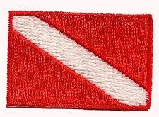 "SCUBA PATCH -DIVE FLAG PATCH - 1"" X 1.5"" -  STICK ON BACKING -"