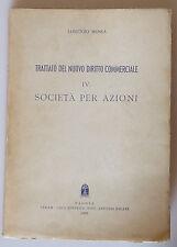 PRL) 1957 ANTIQUE BOOK LIBRO LIVRE SOCIETA' PER AZIONI DIRITTO COMMERCIALE