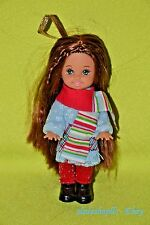 BARBIE KELLY CHRISTMAS TREE ORNAMENT BRUNETTE LONG HAIR WINTER OUTFIT