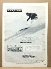 Vintage 1960 Roos/Atkins Snow Ski Shop Squaw Valley Winter Olympics Print Ad