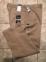 HAGGAR * Mens Khaki Casual Pants * Size 38 x 29 * NEW WITH TAGS