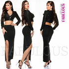 New Sexy Quality Maxi Skirt Side Thigh Split Slit Size 8 S Hot European Fashion