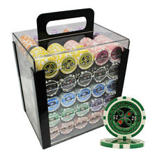 1000pcs 14G ULTIMATE CLAY POKER CHIPS SET ACRYLIC CASE