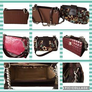 Miche Classic Base Bag BROWN Straps Carabiners Retired Handbag Purse 3 Shells