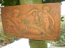 Vintage french Fired Clay Mural Grec Style Plaque, Architectural Salvage, Vgc