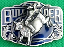 "Belt Buckle ""BULL RIDER"" 3.8cm Wide Belt, RODEO Custom Made, DIY, Metal Casting."
