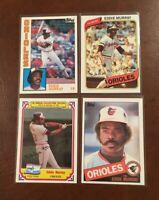 Eddie Murray Lot A (14 different cards) Drake Topps Fleer Donruss 1980 1984 1985