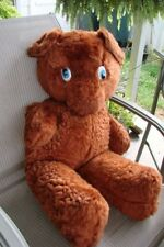 1960's FABLE TOY COMPANY BIG BROWN TEDDY BEAR