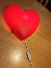 Ikea Girls Bedroom Wall Night Light Heart Shaped