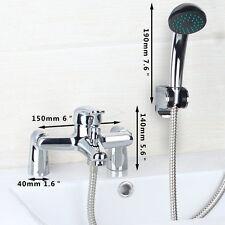 Modern Chrome Bath Filler Hand Held Shower Mixer Tap Bathroom Taps 3 Function