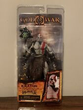 NECA God of War 2 Kratos Action Figure Golden Fleece Armor Medusa Head - New