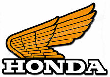 "HONDA WING LOGO DIGITALLY CUT OUT VINYL STICKER. 5.5"" X 4"" OVERALL SIZE"
