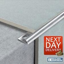 5 Pack Chrome Tile Trim Straight Edge or Round Edge Aluminium 8,10 & 12mm