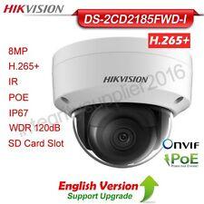 Hikvision DS-2CD2185FWD-I 8MP IP Dome Camera H.265 PoE 4K WDR IP67 IR TF slot En