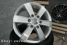 4x 16 inch 6x130 1250KG Mercedes Sprinter VW Crafter silver wheels silver wheels