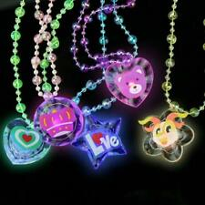 1 Cartoon Glitter Children Kids LED Necklace Pendant Beads Glowing Flashing Gift