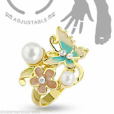 Pearl Brass Fashion Rings