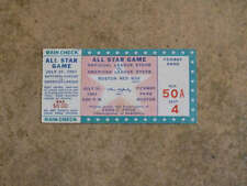 BASEBALL ALL STAR TICKET - 1961 - BOSTON - FENWAY PARK - EX+