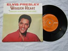 ELVIS PRESLEY  WOODEN HEART TONIGHT IS SO RIGHT orange rca 2700 picture sleeve