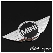3D MINI COOPER WORKS ONE CAR REAR BOOT CHROME REPLACEMENT BADGE LOGO