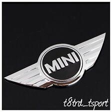 3D MINI COOPER WORKS UNO AUTO POSTERIORE BOOT Chrome LOGO DI RICAMBIO