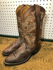 Tony Lama  Men's Cowboy Western Boots Leather Brown Size 8 D