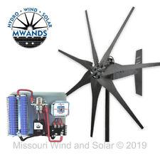 Missouri Freedom 12 Volt 1600 Watt 7 Blade Wind Turbine Generator Kit - Gray