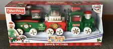 Peek A Blocks Press & Go Train Fisher Price Holiday Blocks Christmas Toy - NEW