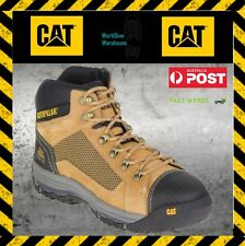 NEW! Caterpillar CAT Convex P720053 Honey Steel Toe Cap Mid Safety Zip Side Boot