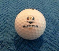 2016 Ryder Cup Hazeltine National Golf Club Chaska MN Logo Golf Balls