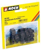 NOCH 60180, Schaltdraht-Schellen, 20 Klebeschellen, Neu