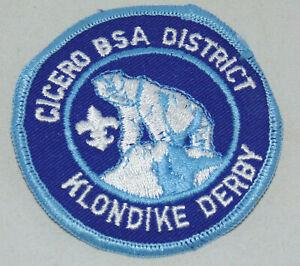 Boy Scout of America Klondike Derby Patch Cicero IL District BSA Polar Bear RARE