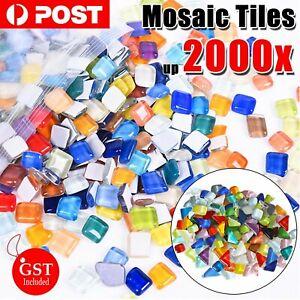 up to 2000x Mixed Crystal Glass Mosaic Tiles Kitchen Bathroom Art Craft Supplies