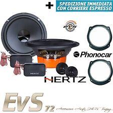 Kit 4 Casse HERTZ DSK165.3 per FIAT Stilo Anteriori + Supporti Adattat Phonocar