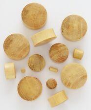 1 Pair 00g 10mm Yellow Jack Fruit Natural Organic Wood Ear Saddle Plugs 452
