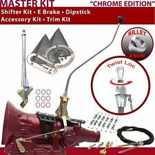 C4 Shifter Kit 23 Swan E Brake Cable Clamp Trim Kit Dipstick For F7E3C trans e