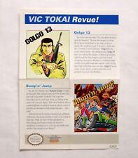Tokai 'Clash at Demonhead' Original Color Poster NES NINTENDO