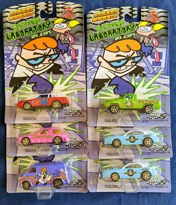 S76-Racing Champions Cartoon Network Dexter Lab w/ DeDe 6 vehicle lot