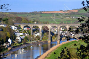 Calstock Viaduct Cornwall Photo Art Print Canvas (UK)