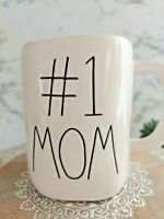 NEW RAE DUNN by Magenta #1 MOM Coffee Tea Mug Farmhouse Mother's Day Home Decor