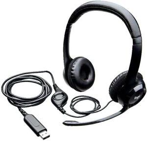 Logitech H390 Cableado Auriculares Con Noice Cancelación Micrófono USB en Línea