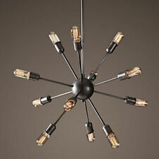 12 Heads Vintage Industrial Pendant Ceiling Sputnik E27 Edison Light Chandelier