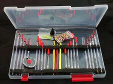 Max Performance Float box & clear waggler Bundle-match/carp/course fishing