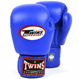 Twins BGVL-3 Leather Boxing Gloves Blue boxing Sparring Kickboxing Muay Thai