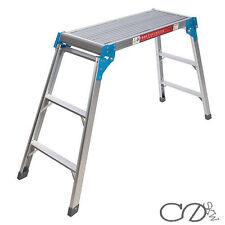 Silverline Step-Up Platform 820 x 300 x 800mm Ladder Platform 105kg