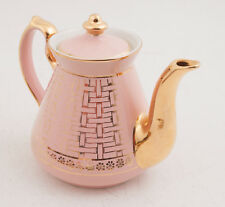 Hall Tea Pot Coffee Pink 22K Gold Basket Weave (HSE2) 6 Cup