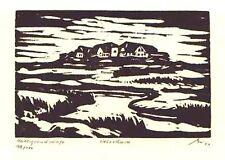Halliglandschaft - original Holzschnitt Franz Grickschat Nr 108 signiert