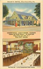 c1940 Haag's Hotel and Gas Station, Bernville, Pennsylvania Postcard