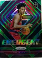 2018-19 Panini Emergent Green Prizm Collin Sexton Rookie RC #8, Cavaliers